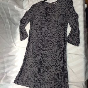 Gap cheetah print long sleeve dress